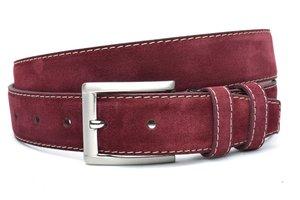4cm bordeaux rode riem -  suède riem bordeaux rood borros400am