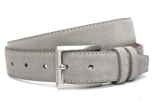 4cm grijze riem -  suède pantalon riem grijs grs400am
