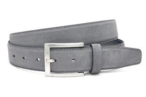 3,5cm pantalon riem grijs suède van het merk Timbelt grijs508tb