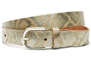 3cm python riem Unleaded sand/silver U30886