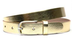 3cm gouden riem Unleaded dames riem goud soft leder U30880