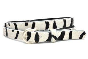 2cm dames riem koeienhuid met zebra Zebra200