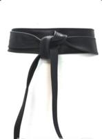6 cm brede dames riem zwart Unleaded