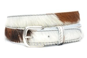 3cm jeans riem bonte koeienhuid koe300
