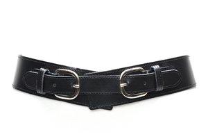 5cm zwarteheupriem - brede dames riem zwart zw5000TB