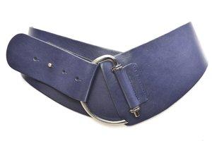 8cm brede dames riem blauw - Take-it Blauw8120TB