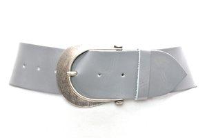 6cm brede grijze dames riem grijs610