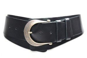 6cm brede dames riem zwart zw6801