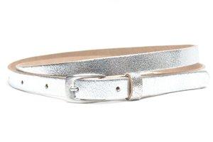 1,5cm smalle zilveren riem - smalle dames riem zilver zilver155