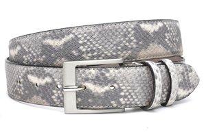 4cm riem grijze slangenprint grijs400snake