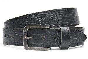 4cm zwarte riem - jeans riem zwart ZW64157