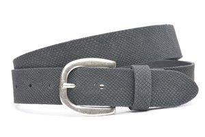 3,5cm python riem Unleaded grijs U35373