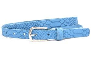 2 cm jeans riem blauw nubuck met snake structuur blauw200snake