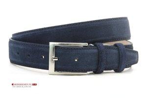 3,5cm pantalon riem blauw suède bls350am