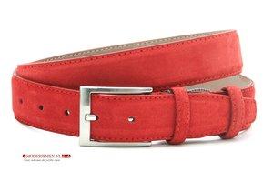 3,5cm pantalon riem rood suède ros350am