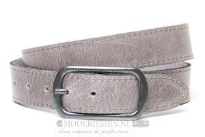 3,5cm grijze riem - jeans / pantalon riem grijs gr352
