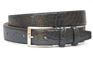 3,5cm zwarte riem - pantalon riem zwart croco zwcr350am