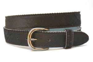 3,5cm jeans riem koebont zwart koezw355
