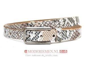 2cm dames riem met slangenprint snake409TB