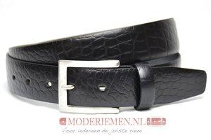 3,5cm zwarte pantalon riem - zwarte croco riem Timbelt zw509tb