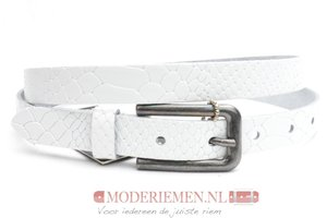 2cm dames riem wit snake Take-it wit414snakeTB
