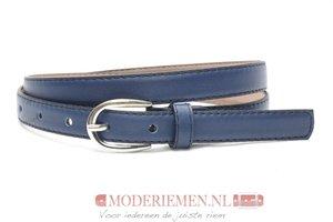2cm blauwe riem - dames riem donkerblauw nerfleder bl200am