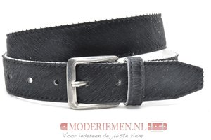 4cm jeans riem koebont zwart koezw408