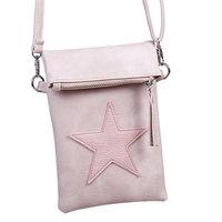 Roze flip top bag - roze tas met ster