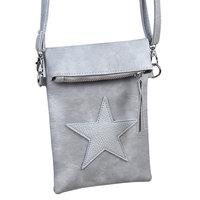 Grijze flip top bag - Grijze tas met ster