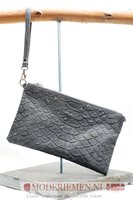 Schoudertas / Clutch met krokoprint  grijs Giuliano 552314 Grey