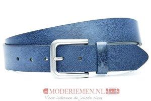 4cm blauwe  riem - jeans riem blauw bl40601am
