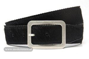 4,5cm jeans riem koebont zwart koezw454