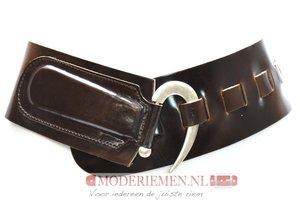 8cm brede dames riem donkerbruin van het merk Take-it bruin8100TB