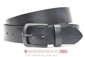 4cm zwarte riem - jeans riem zwart zw40604am