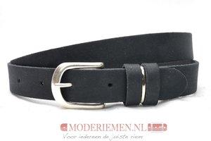 2,5 cm jeans riem zwart Unleaded U25386