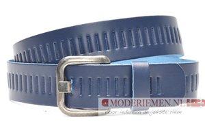4cm blauwe riem / jeansriem - riem blauw Timbelt bl427tb