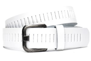 4cm witte riem / jeansriem - riem wit Timbelt wi427tb