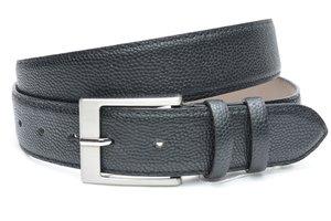 4cm zwarte pantalon riem - zwarte riem van leder met mooie print zw400printam