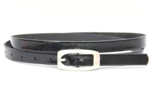1,5cm smalle kinderriem zwart lak kzwl151