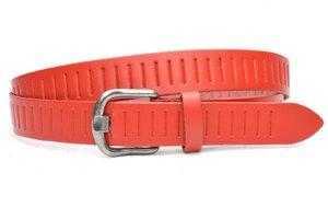 3cm rode riem / jeans - pantalon riem rood Timbelt rood426tb
