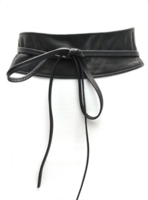 8 cm brede dames riem zwart Unleaded