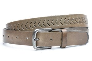 3cm taupe riem volnerf perfo taupe403