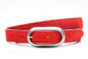 2,5cm kinderriem koebont rood krokoe251