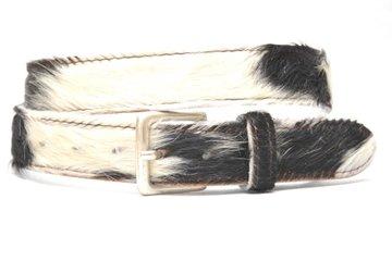 3,5cm jeans riem koebont zwart wit koe354zwwit
