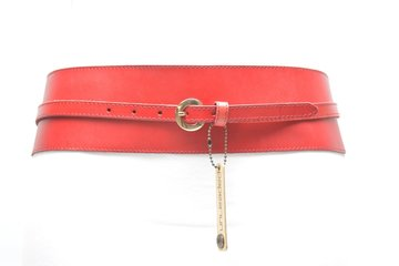 8,5cm rode heupriem - brede dames riem rood Unleaded U8508