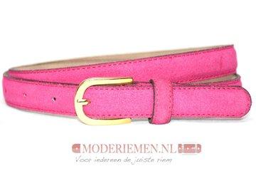 2cm roze suède dames riem - smalle riem fuchsia roze roze200suede