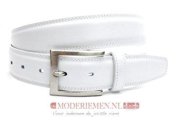 3,5cm witte riem -  pantalon riem wit wi510tb