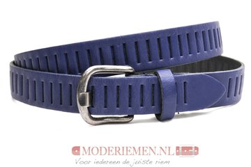 3cm donkerblauwe riem / jeans - pantalon riem blauw Timbelt bl426tb