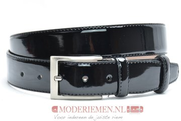 3,5cm pantalon riem zwart lakleder zwlak350am