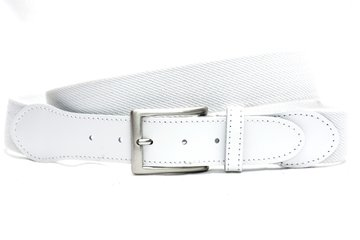 3,5cm witte elastische riem wi350elasTB